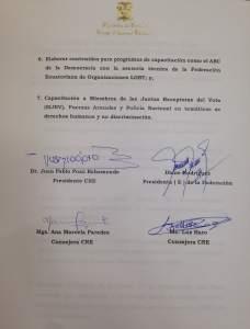Acuerdo entre el Consejo Nacional Electoral del Ecuador y la Federacion ecuatoriana de organizaciones LGBTI 2016 ambito politico sergunda parte