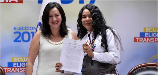 Ana Marcela Paredes y Diane Rodriguez firman acuerdo a favor de los LGBTI