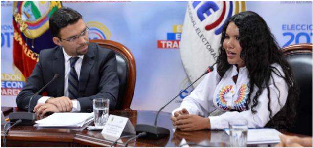 Juan Pablo Pozo y Diane Rodriguez durante la firma de 7 acuerdos en favor de la comunidad LGBTI