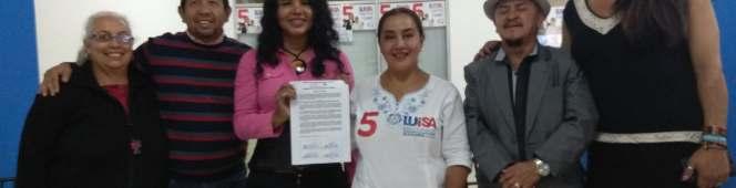 Candidata por la Alcaldía de Quito, firma el AcuerdoLGBT