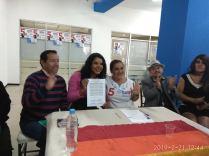 firma del acuerdo por la igualdad entre Diane Rodriguez y Luisa Maldonado candidata a la alcaldia de quito (2)