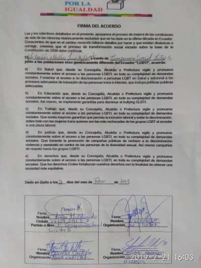 firma del acuerdo por la igualdad entre Diane Rodriguez y Luisa Maldonado candidata a la alcaldia de quito (20)