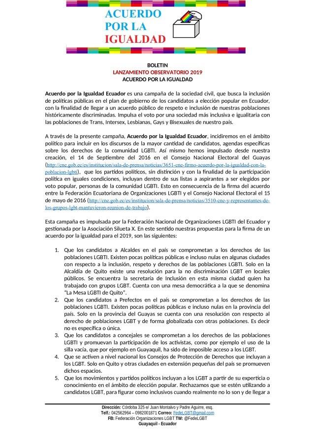 LANZAMIENTO OBSERVATORIO 2019 - Acuerdo por la igualdad LGBT_000