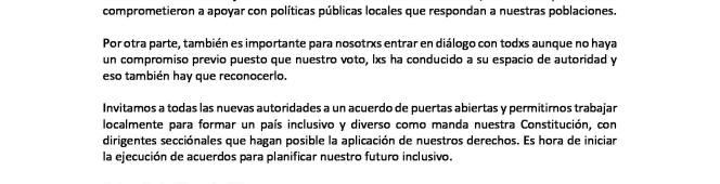 Federación Nacional LGBT felicita a las nuevas autoridades secciónales enEcuador
