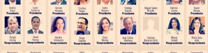 Esta es la papeleta electoral para el año 2021 Ecuador. Siendo LGBT, ¿Cuál de estos candidatos es tu mejoropción?