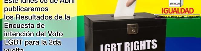 Mañana Publicación de los resultados de intención del Voto LGBT para la 2davuelta